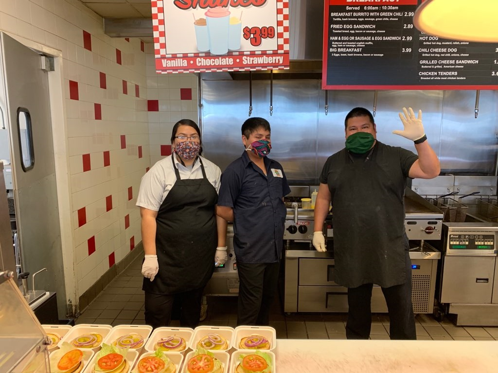 Laguna Burger staff preps meals to deliver to local police and fire departments