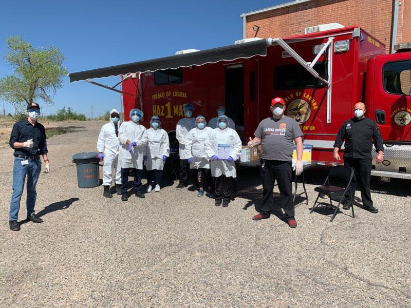 Laguna Burgers delivers meals to Pueblo of Laguna covid19 drive thru testing health staff 1